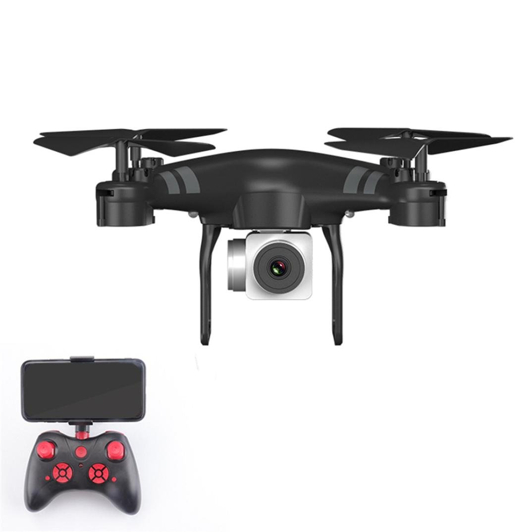 Cinhent Quadcopter Wide Angle Lens 1080P HD Camera 4 Channels RC Drone WiFi FPV 1800Mah Intelligent Battery, Long Control Range, Gifts For Adults Kids Beginner (Black)