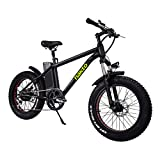 NAKTO Electric Fat Tire 20Inch EBikes 300W 36V10A Snow Bicycles Lithium Battery- Men