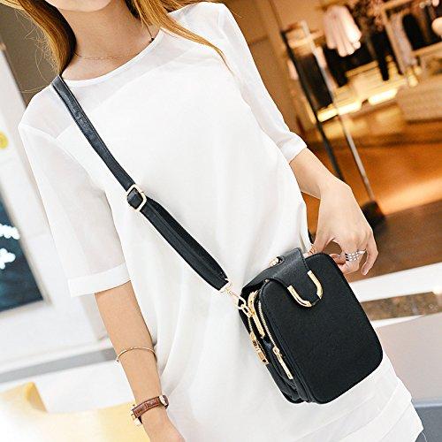 DJB/Damen Schulter Taschen Freizeit Taschen Tide Handy Paket schwarz r03Rd