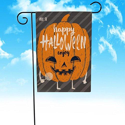 Large 18' Plush (Highpot Pumpkin Halloween Applique Garden Flag 12x18 inch Halloween Weatherproof Decoration (E))