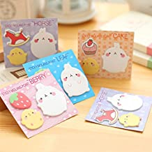 Katoot@ 36 pcs/lot Rabbit Kawaii colored memo pads and sticky notes Cute animal post it stickers for kids gift office school supplis