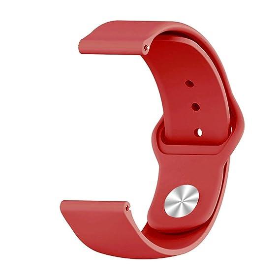Riou Correa para Reloj,❤️para Samsung Galaxy Watch Correa de muñeca de Silicona para Reloj Deportivo de reemplazo Pulseras de Repuesto para smartwatches ...
