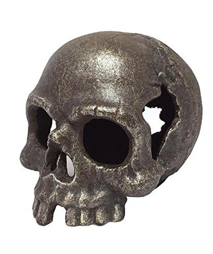 Testa di morto in ghisa Fermacarte pirata testa Skull Memento Mori zeitzone