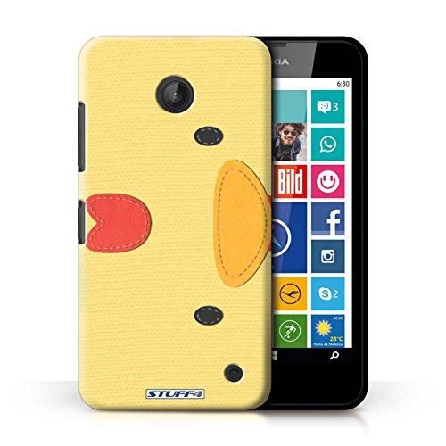 Kobalt® Imprimé Etui / Coque pour Nokia Lumia 635 / Poulet conception / Série Cousu des Animaux Effet