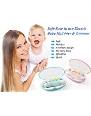 Zenone Baby Electric Nail Filer and Trimmer for Newborn Baby's, Toddlers, Kids and Adults Nail File, Safe with LED light Electric Baby Nail Clipper