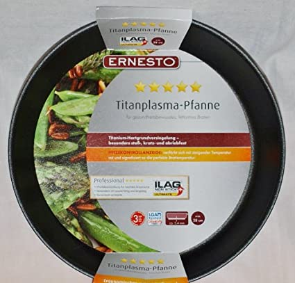 ERNESTO &apos Titanio de plasma Sartén Ilag Non Stick de 28 cm para Gesundheitsbewusstes grasa Armes