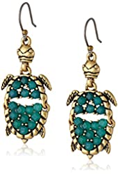 Lucky Brand Turtle Drop Earrings