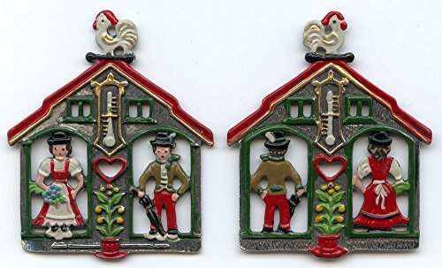 Pewter Christmas Decorations - Pinnacle Peak Trading Company Weatherhouse German Pewter Christmas Tree Ornament Weather House Decoration New