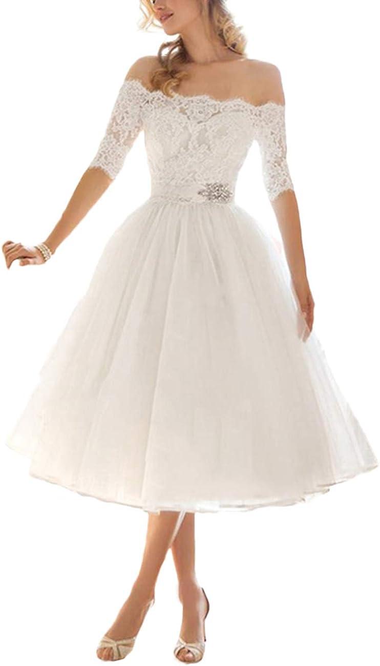 VKStar® Retro 16er Damen Abendkleid Hochzeitskleid Kurzarm Cocktailkleid  mit Gürtel Rockabilly Swing Kleid
