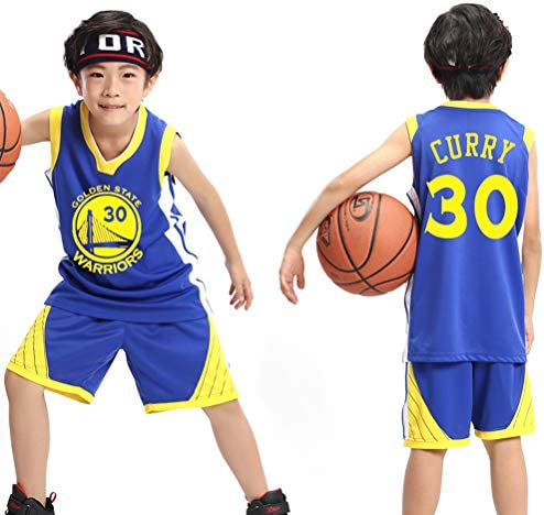 NNLX Maillot de Basket-Ball pour Hommes 30 Curry Jersey Ensemble de Broderie Ball Star Battlesuit Comp/étition Basketball Wear Set Respirant Sweat S-XXXL
