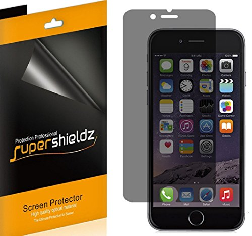 [2 Pack] Supershieldz- Privacy Anti-Spy Screen Protector Shield for Apple iPhone 6 4.7 + Lifetime Replacements Warranty - Retail Packaging