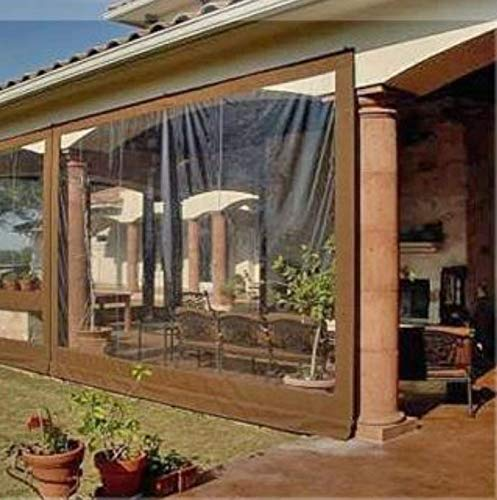 Commercial Grade Vinyl - Waterproof Commercial Grade 0.5mm Vinyl Clear Awning Canopy Patio Enclosure (8x10ft.)