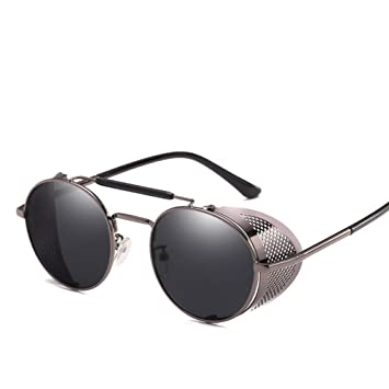 Gafas de sol personalizadas con marco redondo para parabrisas, gafas de sol universales para hombres y mujeres, gafas de sol góticas clásicas estilo ...