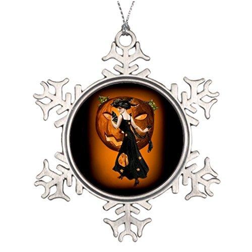 Metal Ornaments Best Friend Snowflake Ornaments Halloween Jack O Lantern ()