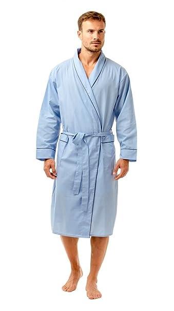 Haigman - Bata - para Hombre Azul Azul Claro XX-Large: Amazon.es: Ropa y accesorios