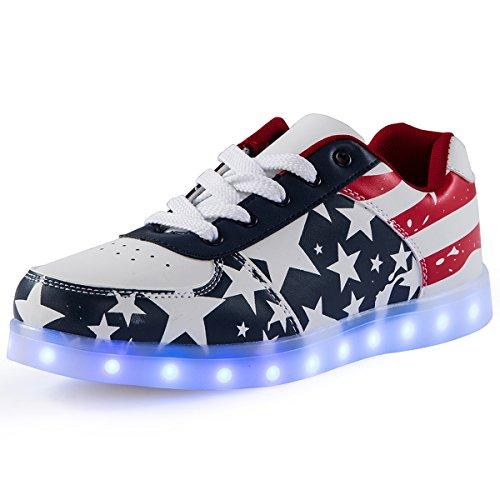 Unisex Luminosi Sportive Blu Scarpe Sneakers Led Adulto AFFINEST Con Le Scarpe Accendono Luci IPZqx5nf
