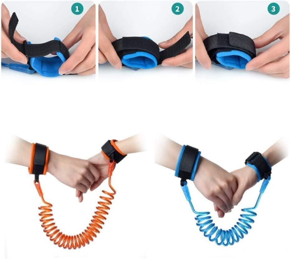 Orange Vektenxi Tout-petits b/éb/é s/écurit/é anti-perte lien poignet harnais de s/écurit/é enfant sac /à dos ceinture//sangle sacs de corde de traction 250CM pratique et populaire Blue150CM