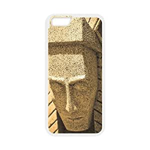 Okaycosama Funny IPhone 6 Cases Native American Statue Hardshell for Girls, Iphone 6 Cases for Girls, [White]