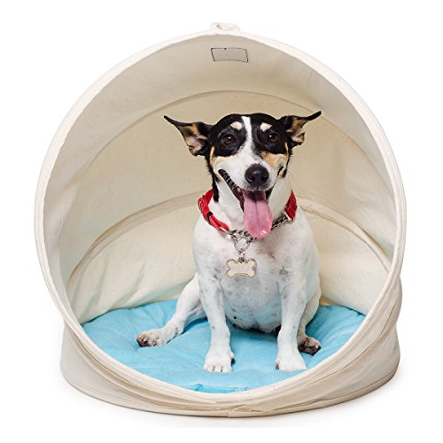 bouti1583 Spiral Collapsible Pet House with Removable Cushion Foldable Dog Cat Bed - Collapsible Pet House