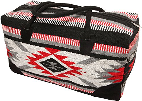 El Paso Designs Southwest Duffel Bag- Camino Real Native American and Mexican Style Jumbo Large Travel Bags (Tabasco)