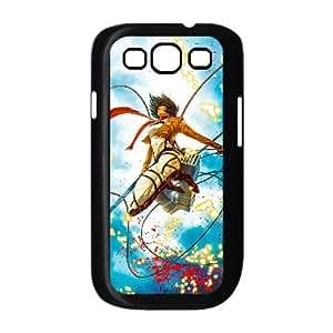 Shingeki Ningún caso Kyojin J6L80G3NQ funda Samsung Galaxy S3 9300 funda 8A64X2 negro