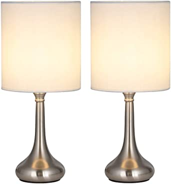 Juego de 2 lámparas de mesa modernas al lado, lámparas de mesita ...