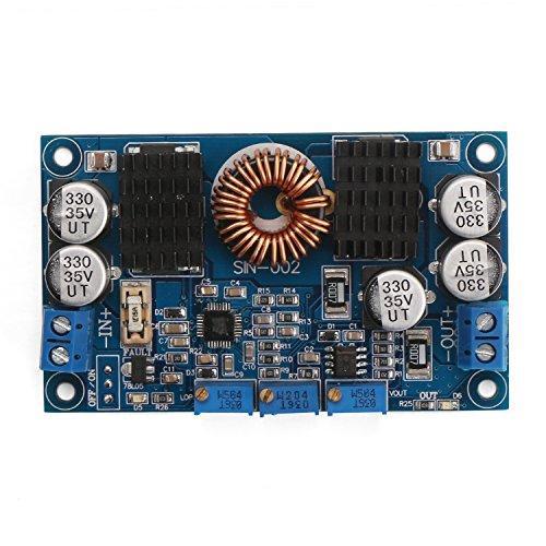(DROK DC Buck Boost Converter Module Power Supply 80W 12V 24V Voltage Regulator Input 7-32V Output 1-30V Adjustable Voltage Converter Constant Volt Amp for Battery Charging Solar Energy LED Driver)