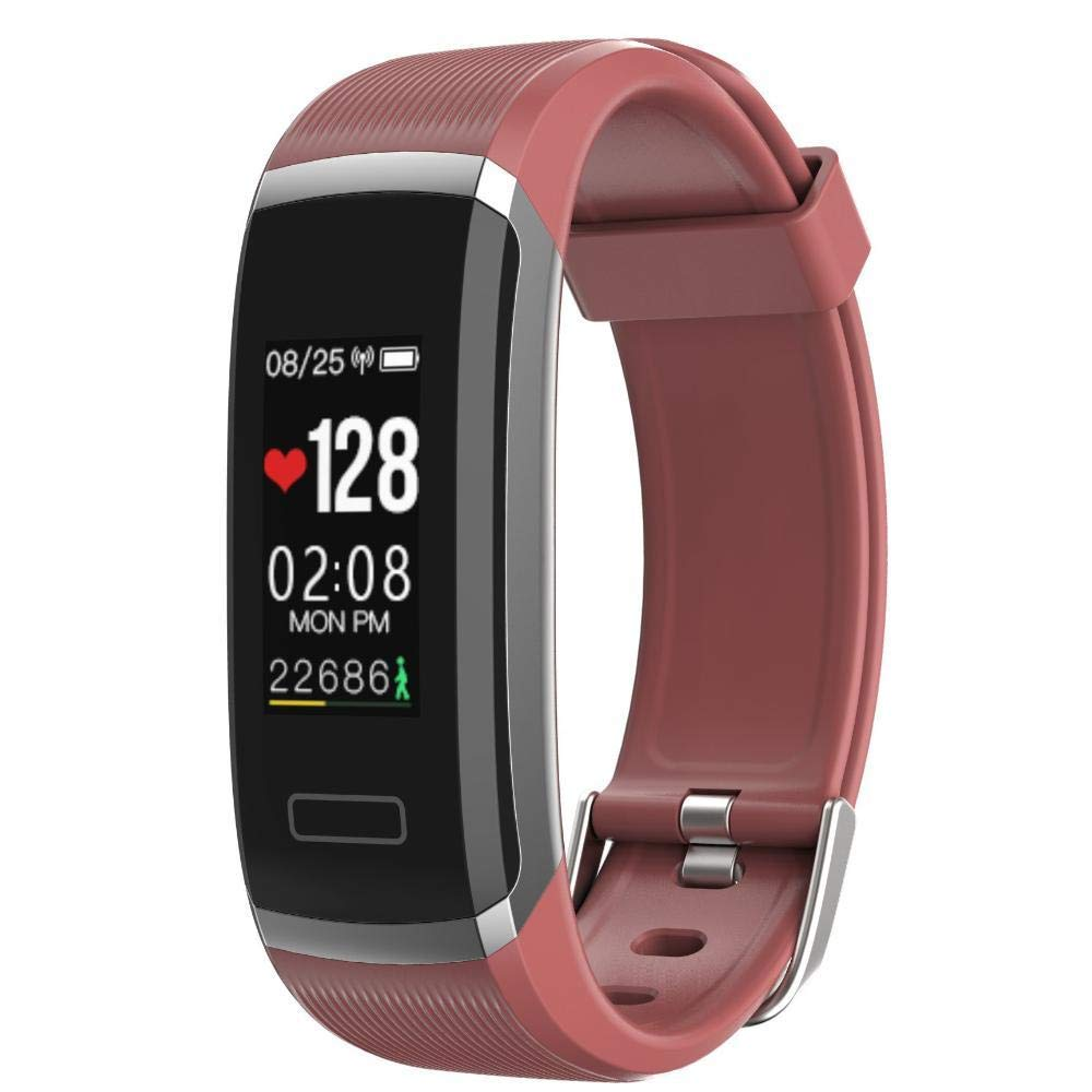 Ambiguity Fitness-Armband,Smart-Armband Farbe Herzfrequenz IP67 wasserdicht staubdicht Anruferkennung warnen alle Arten von Informationen Push Armband
