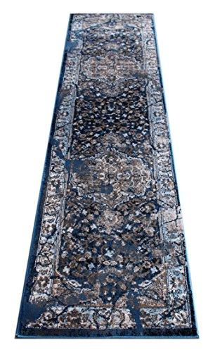 Masada Rugs Oriental Vintage Distressed Area Rug Rafael Collection (2 Feet X 7 Feet 3 Inch Runner) (Rafael Rug Area)