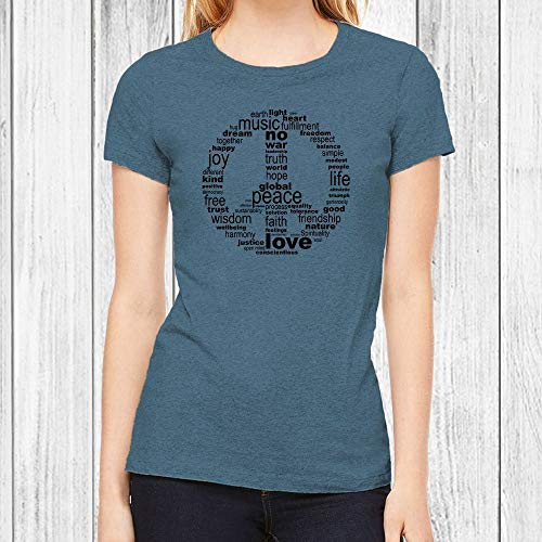 Peace Juniors Tee - Graphic T Shirts for Women Peace Sign Tshirt Junior Fit Tee 6 Colors