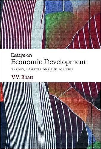 Essays On Economic Development Theory Institutions And Policies  Essays On Economic Development Theory Institutions And Policies Vv  Bhatt  Amazoncom Books