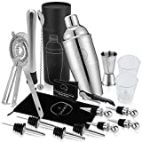 19-Piece Cocktail Shaker Set and Bartender Kit with Exclusive: Bag, Shot Glasses, Cocktail