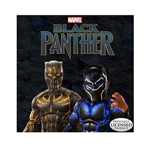 Rubie's Deluxe Black Panther Child's Costume, Grey, Medium