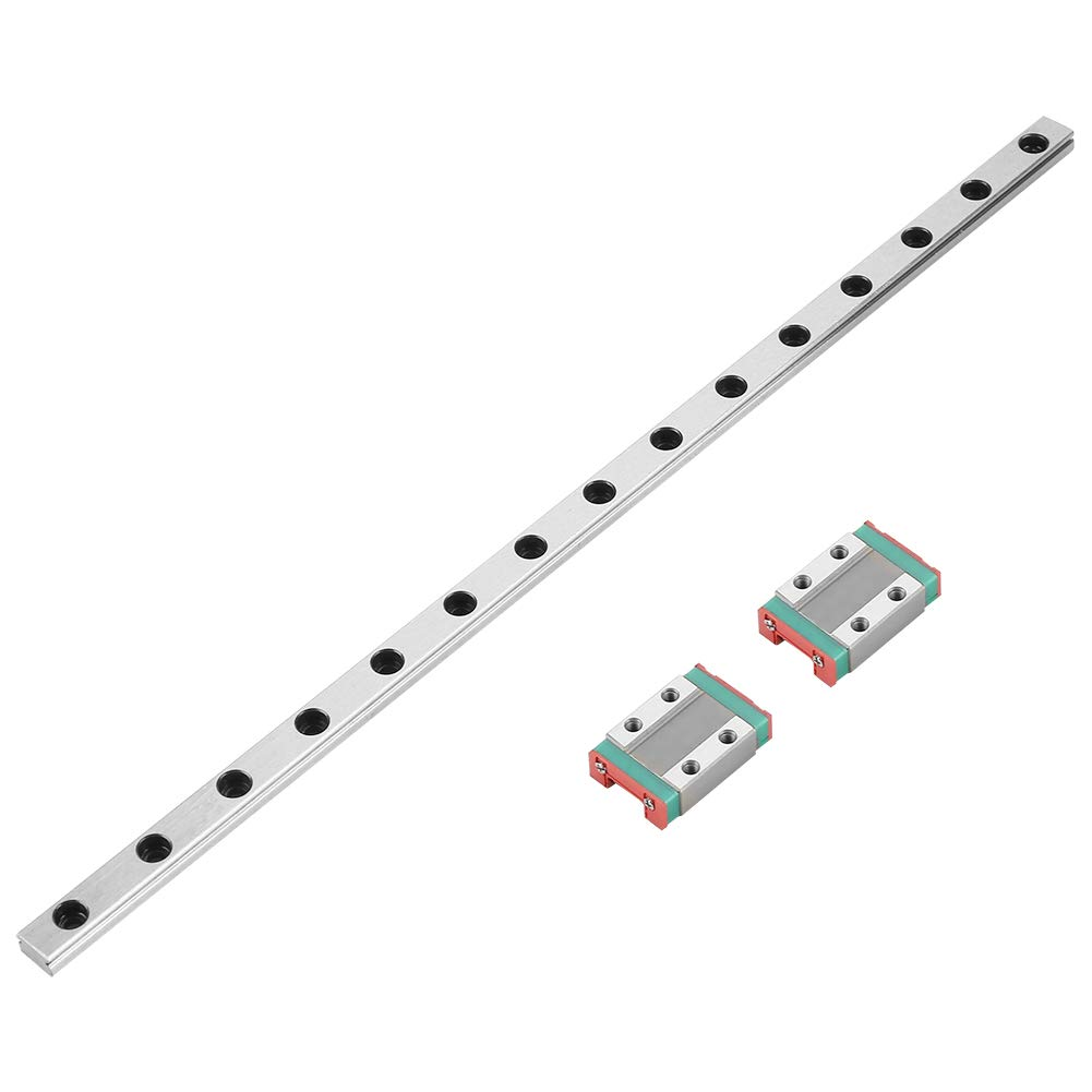 MGN9B 300mm Bearing Steel Linear Guide Rail with 2 Piece Linear Guide Block for Most Automatic Appliances Linear Guide Rail