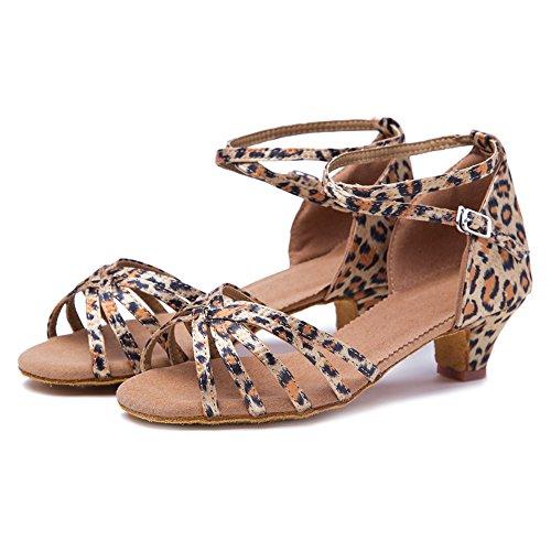 Danza Tango 2 Latinos Mujeres Salón Zapatos Ykxlm modelo Calzado amp;niña Zapatillas Leopardo Performance Salsa De Esxgg Baile 7BnzaRWqzg
