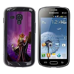 Caucho caso de Shell duro de la cubierta de accesorios de protección BY RAYDREAMMM - Samsung Galaxy S Duos S7562 - Evil Queen King Witch Skeleton Devil Art