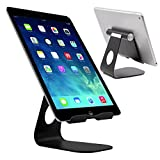 lg 3 tablet cases - Skoloo HIGH FOOT Universal Aluminum Rotate Charge Desk Tablet and Cell Phone Holder Desktop Display Stand for Nintendo Switch, Samsung Tab S8 LG G6 Stylo 3, iPad Pro mini iPhone 7 6 Plus, Nexus, Black