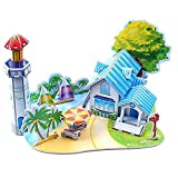 iumei Christmas 3D Paper Board Puzzle Early Learning Construction Assemble Toy Children Gift Party Decor Home Decoration (E)