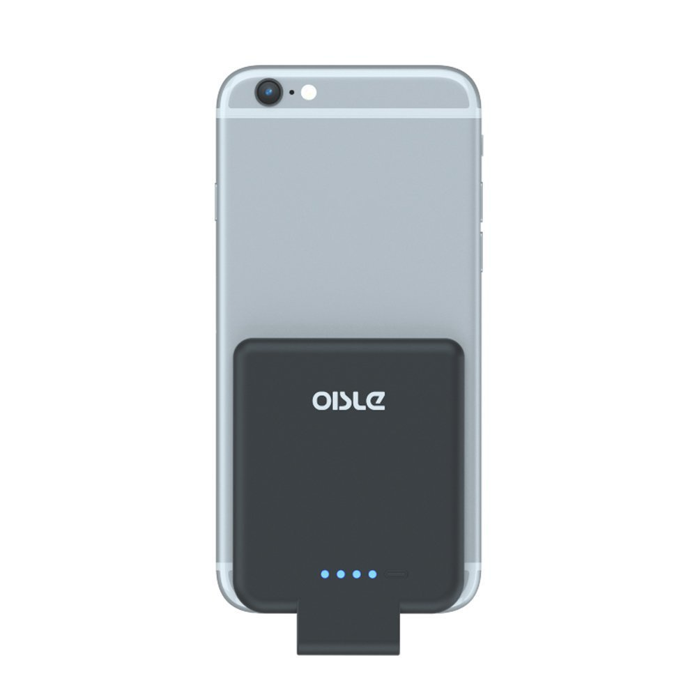 oisle Portable Charger Mini Power Bank PowerCore 2200mAh Wireless External Backup Battery Pack High-Speed Ultra Thin Charging for iPhone 5(s)/6(s)/7(p)/8(p)/X -Black