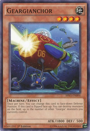 Yu-Gi-Oh! - Geargianchor (SHVI-EN094) - Shining Victories - 1st Edition - Common