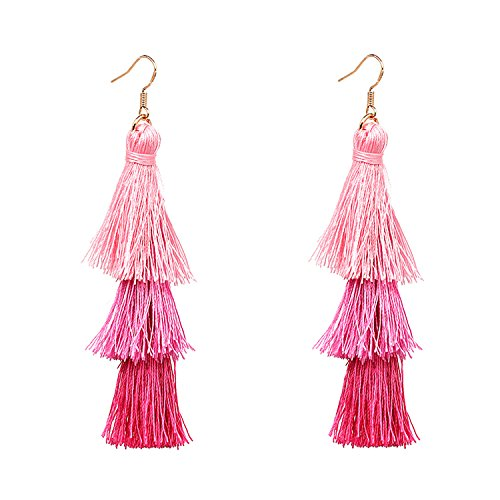 Accessories Thread Ball Dangle Earrings Thread Dangle Earrings Soriee Drop Earrings Beaded Ball Bohemia Ethnic Tassels Dangle Stud Earrings Eardrop (B) Thread Earrings Jewelry