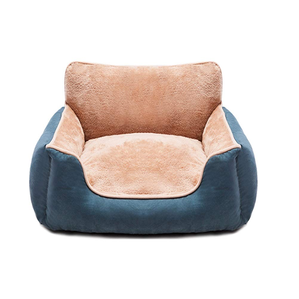 GYR28656 Soft and comfortable Removable pet sofa dog bed cat bed pet bed dog pad bluee high elastic PP cotton Pet cat dog cave