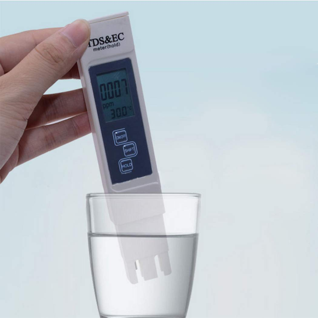 KOKOBUY TDS Meter Digital Water Tester Pen, TDS EC Temperature Meter 3 in 1, High Accuracy Handheld Pocket Size Water Quality Tester for Drinking Water, Aquariums, Hydroponics