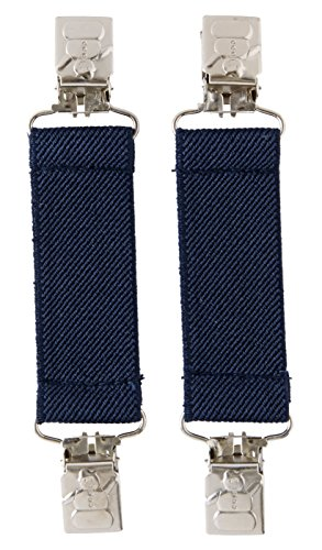 Mitten Clip, Kids Mitten Keepers - With Metal Snowman Clip Design - Navy
