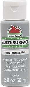 Apple Barrel Multi Surface Acrylic Paint, 2 oz, Timeless Gray 2 Fl Oz