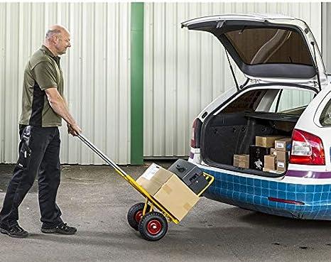 Sackkarre Transportkarre einfach zusammen zu falten Handkarre Tragf/ähigkeit: 150 kg Industriequalit/ät