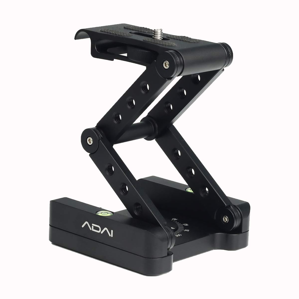 360°Rotating Folding Z Flex Tilt Head Tripod Head Aluminum Alloy Folding Camera Bracket with Quick Release Plate Stand Holder Compatible with DSLR Camera Canon Nikon Sony Pentax by ADAI (Image #1)
