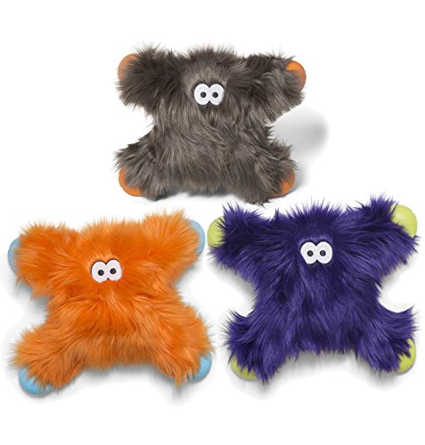 Image of West Paw Rowdies with HardyTex and Zogoflex, Durable Plush Dog Toy for Medium to Large Dogs, Lincoln, Purple Fur