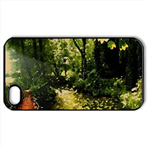 Natural Park Watercolor style Cover iPhone 4 and 4S Case (Summer Watercolor style Cover iPhone 4 and 4S Case)