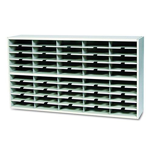 Mayline SR6033PG Mailroom system 2 tier sorter w/o riser, 40 pockets, 60w x 13 1/4d x 33 1/4h by Mayline